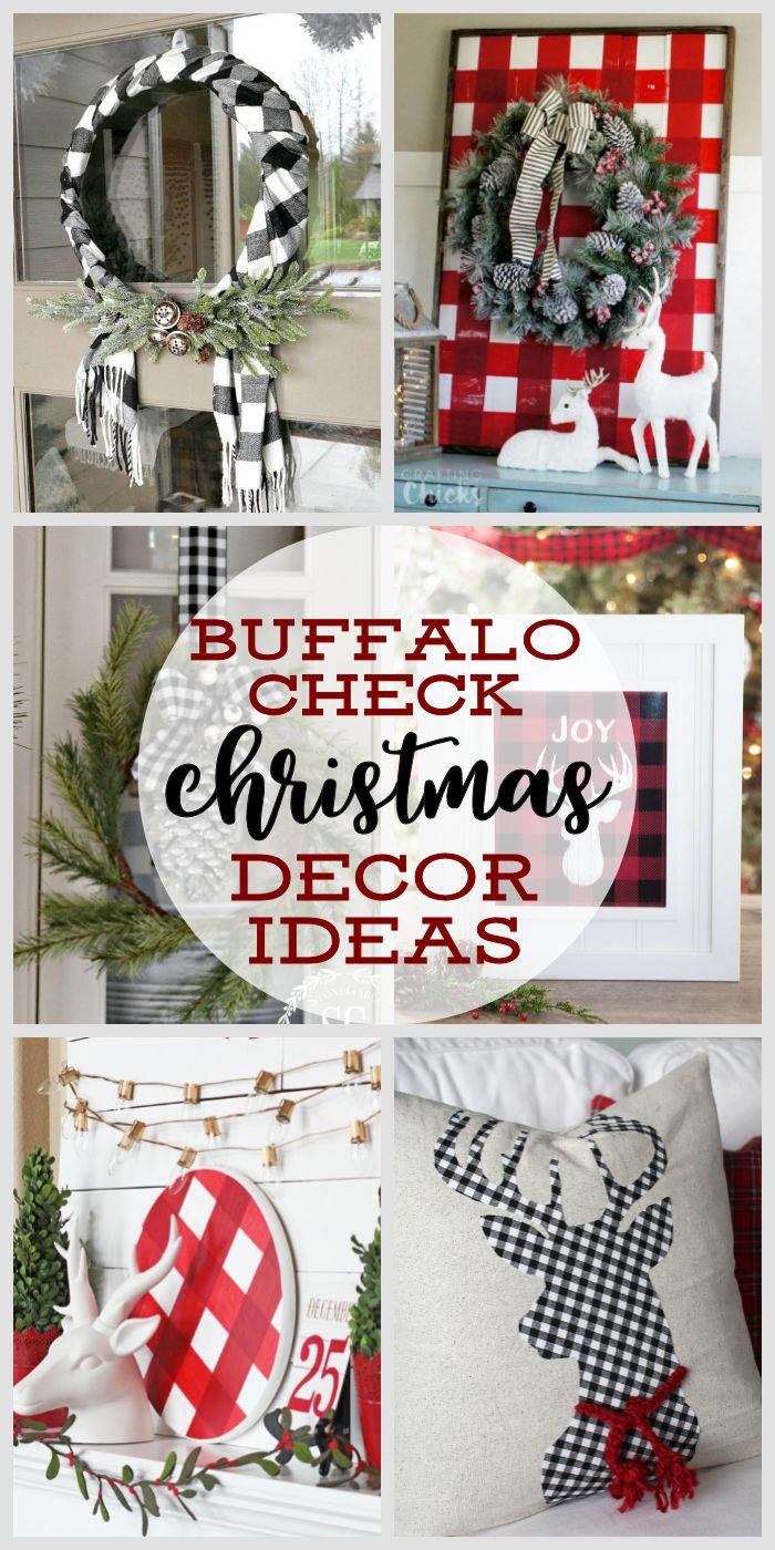 Buffalo Check Christmas Decor Ideas | Farmhouse Christmas Decorating Ideas | How to Decorate with Buffalo Check for Christmas #farmhousedecor #farmhousechristmas