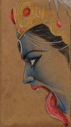 Kali nació cuando Shivá miró dentro de sí mismo, fruto de su ira, es considerada su reflejo, la divina energía primordial. Kali se llenó de crueldad, yendo a destruir a los demonios asuras... https://vademedium.wordpress.com/2015/01/17/kali-fruto-de-la-ira-de-shiva/