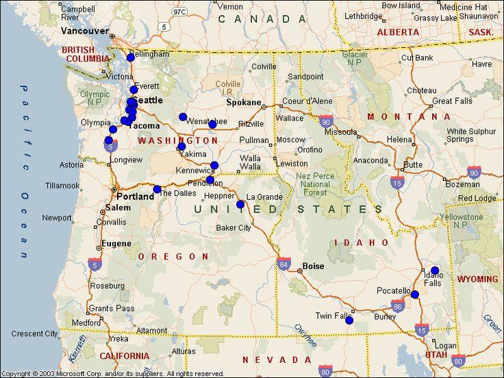 Yakima WA City Map Printable | Training Center Product Testing Yakima ...