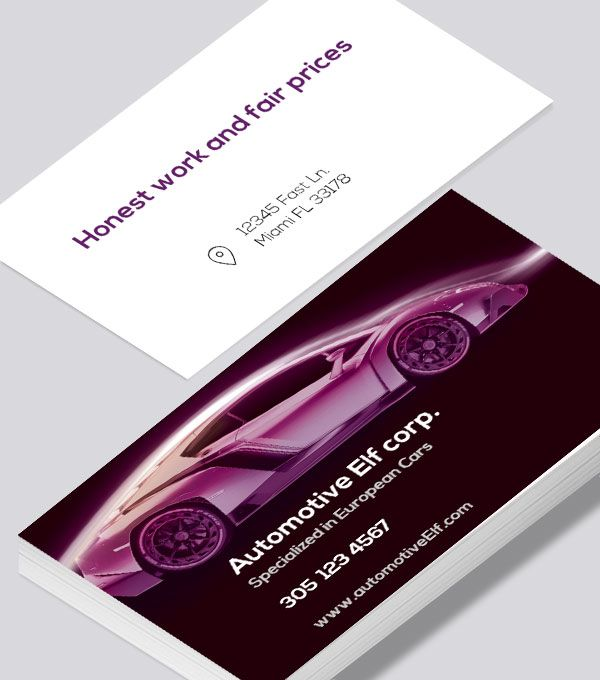 Automotive Lamborghini Business Card Mechanic Card Mechanic Business Cards Modern Business Cards Design