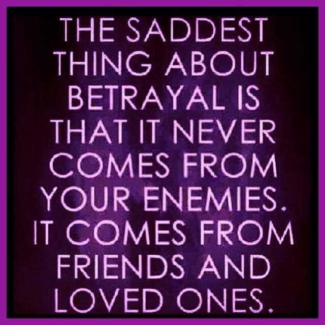friendship and betrayal Infidelity is the betrayal our society focuses on, but it is actually the subtle, unnoticed betrayals that truly ruin relationships.