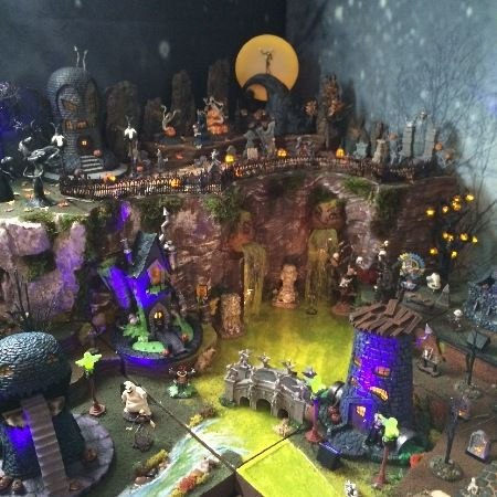 Nightmare Before Christmas Village Using Bases From