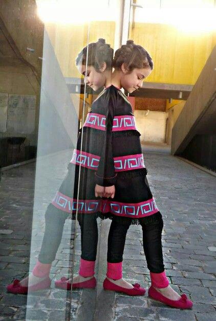 Diseño infantil con  inspiraciones mapuches