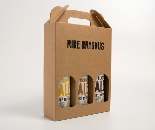 International Ribe Bryghus Brand Packaging Design Photos Ribe Bryghus Designed by Mads Jakob Poulsen