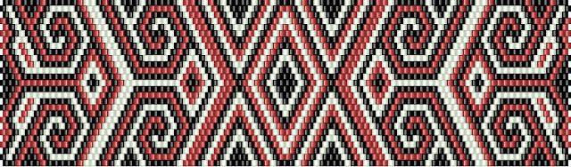 Схемы браслетов - мозаичное