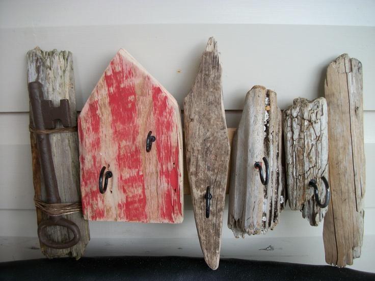 Driftwood art 5 hook key Rack - £14.00