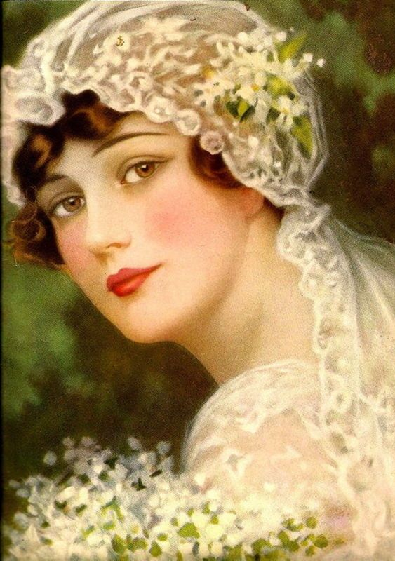 """ Portrait of a Bride "" ARTIST: St George Hare"