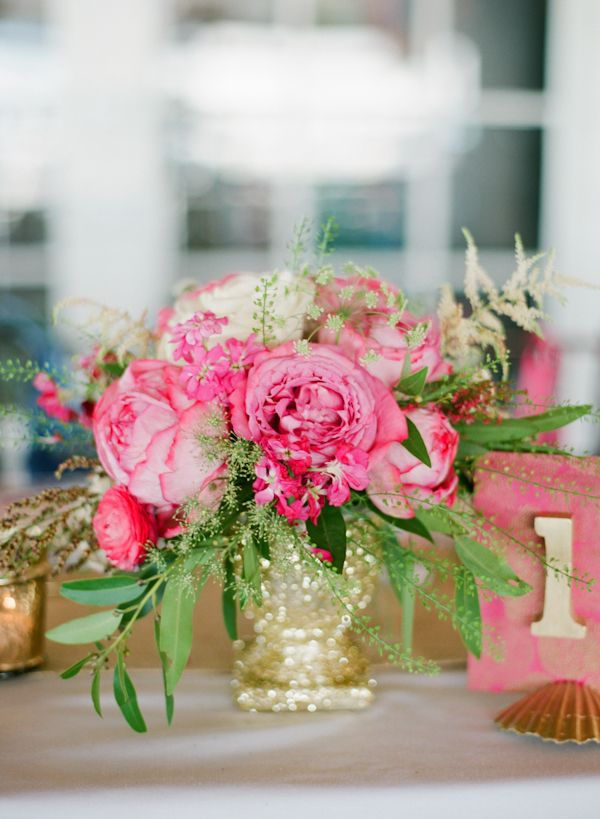Images about pink and gold centerpieces on pinterest