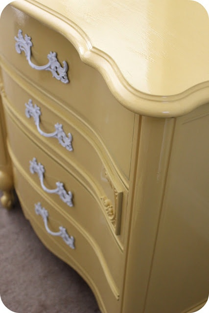 The old dresser redo! I have a dresser just like this!