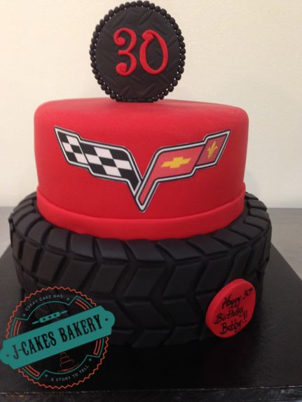 30th Birthday Corvette Cake!