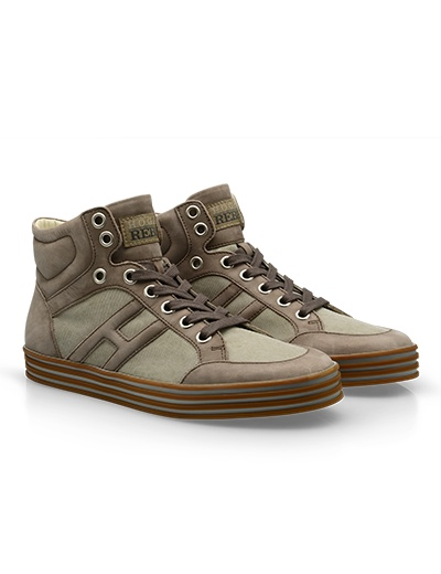 #HOGANREBEL Men's Spring - Summer 2013 #collection: nubuck leather High-Top #sneakers R141.