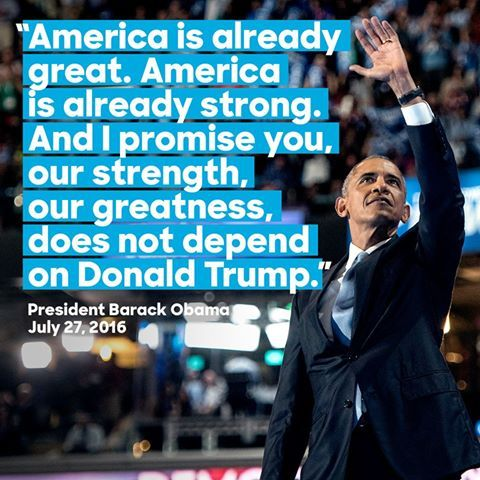 The American people have always made this country great.