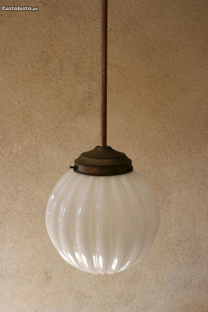 Coleção de globos art deco vidro opalino - à venda - Antiguidades e Colecções, Setúbal - CustoJusto.pt