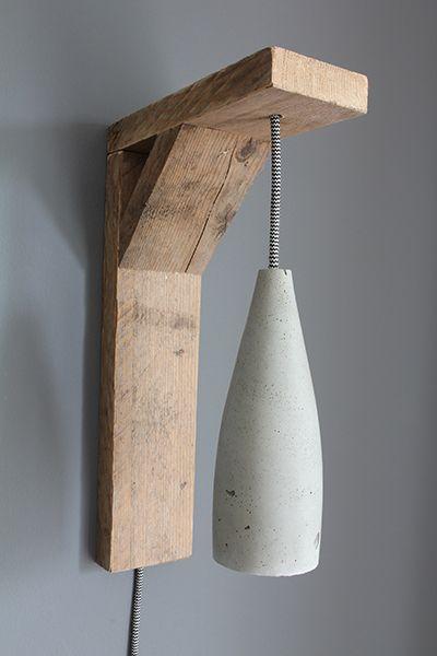 Het Noteboompje wandhouder voor cementlamp