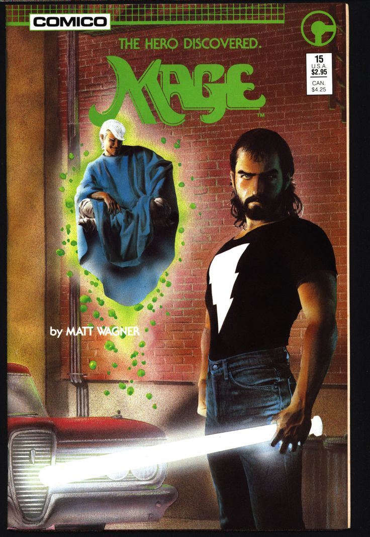 MAGE #15 Final Issue Giant-size The Hero Discovered Matt Wagner Grendel Sam Kieth Bob Pinaha Comico Cult Comics Magic Supernatural Superhero