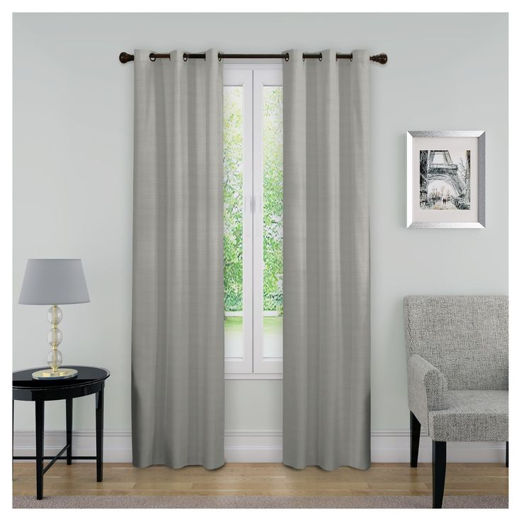 Transform any room in your home with the Eclipse Nikki blackout curtain. Independently tested, Eclipse offers a superior blend of window fashion design and blackout technology for any décor. Update the bedroom, living room or dining room and enjoy the light blocking, noise reducing, energy-saving benefits of Eclipse. Perfect for daytime sleepers of all ages, home theater enthusiasts, and energy saving conscious home owners, Eclipse curtains offer style versatility for any living spac...