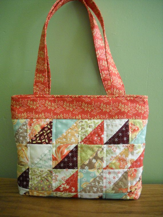 Patchwork Quilted Purse made with Tapestry by RedRabbitQuilting,