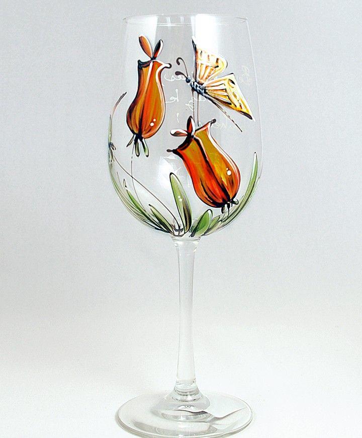 Coupe (490 ml) : : Tulipes  *** Produit peint à la main.