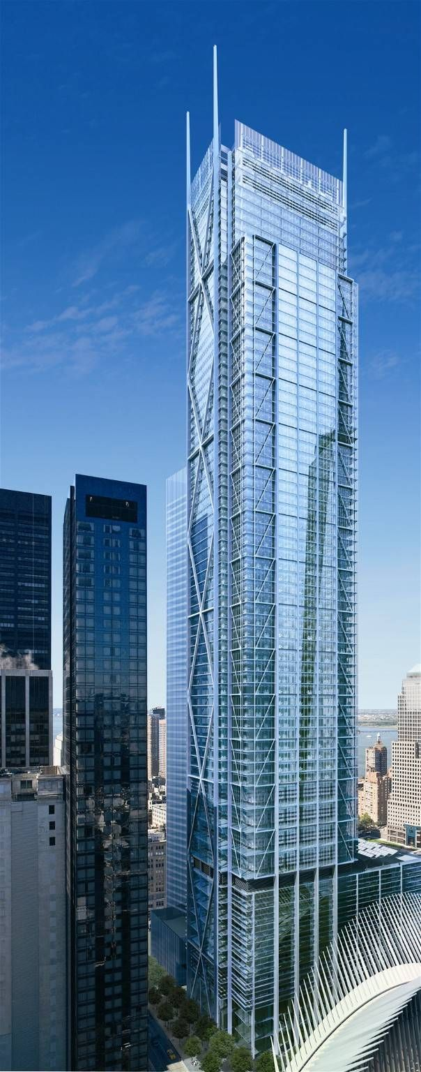 #7) Three World Trade Center (175 Greenwich St) | 1,240 ft | Richard Rogers (Rogers Stirk Harbour + Partners)
