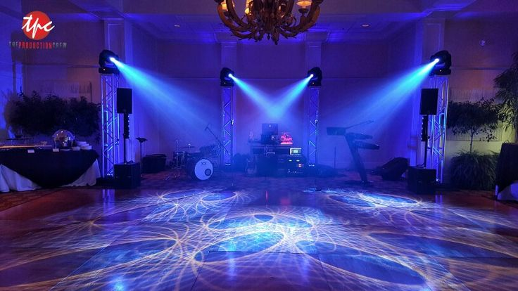 Four Moving Lights on Truss with LED Uplighting  Event