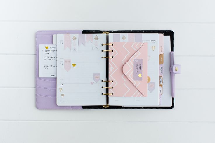 kikki.K Personal Planner with Customised Weekly Layout and Envelope Insert