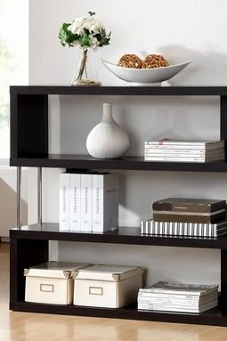 Barnes Wenge 3 Shelf Modern Bookcase