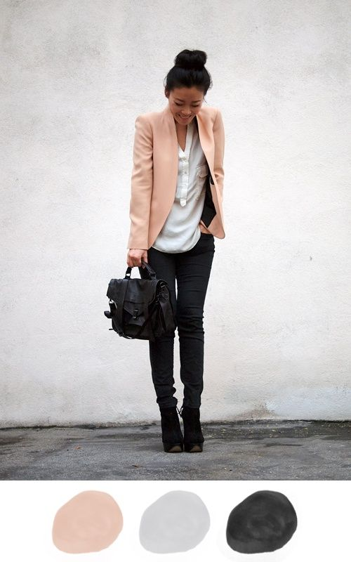 Neutrals, would make a great interview outfit: