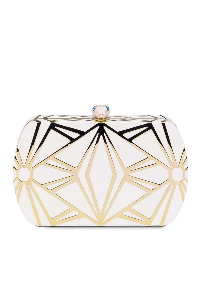Spring 2013 handbags, Bulgari clutch.