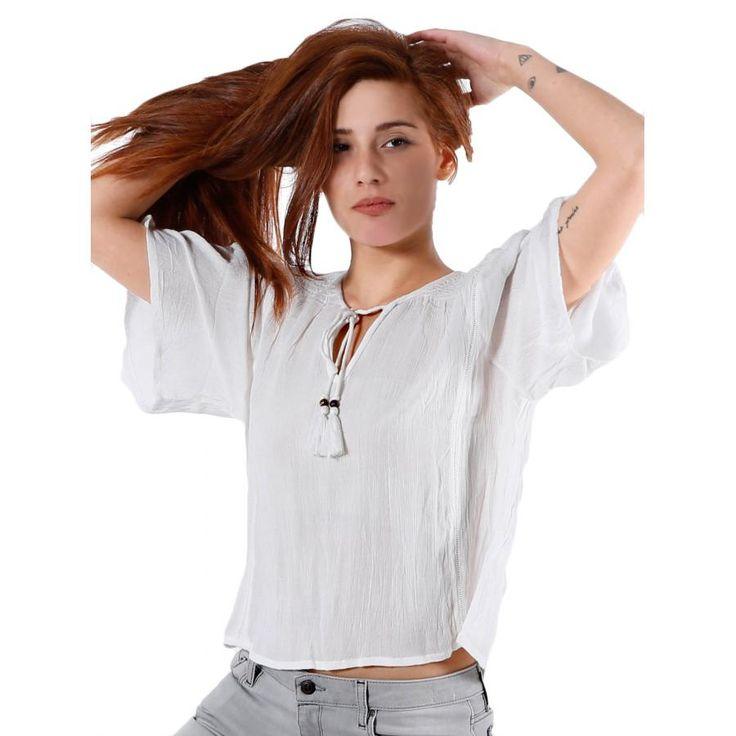 ATTRATTIVO Κοντομάνικο έθνικ τούνικ-πουκάμισο