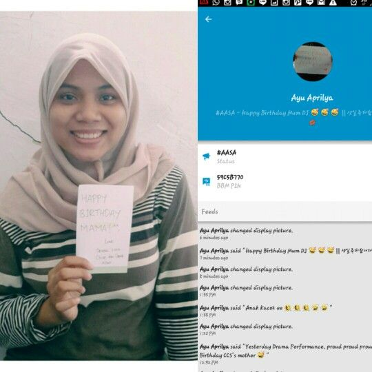 """**It'sa a super """"Happy Birthday"""" to you Mum, from my dearest sista in Depok, Devina, and My bestie for life, Ayu.  Also from: , @didills  , @ribradra  , @ahmadfaizhusein  , and @ellalitamahuputty   Sorry guys I lost the screenshot due to resetting my phone wkwk"""