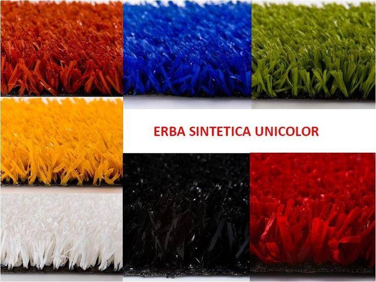 Erba sintetica: mazzetta colori erba sintetica ornamentale colorata per scuole e parchi gioco