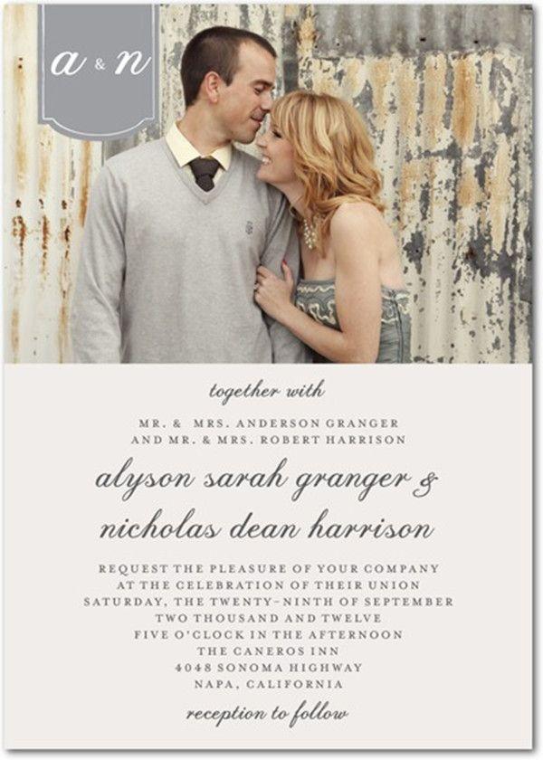 vintage photo wedding invitations