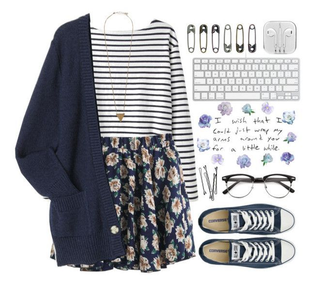 """Lovely girl"" by raquel-t-k-m ❤ liked on Polyvore featuring Wood Wood, Pieces, Converse and BOBBY"