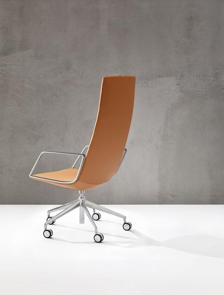CATIFA SENSIT | Executive chair with armrests Medium back executive chair with armrests with casters by Arper