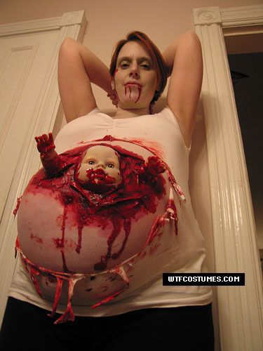 zombie baby belly buster | Baby Coming Out Of Stomach Halloween Costume Horror baby bump