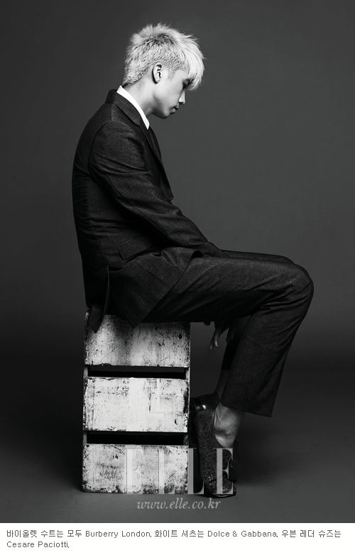 2PM's Wooyoung in Elle Korea August 2012