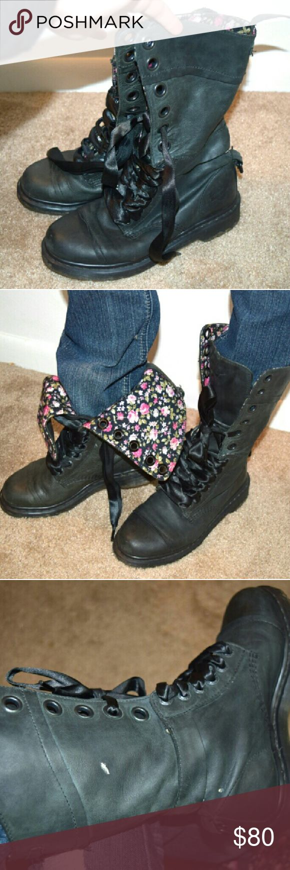 Selling this Dr. Marten's Floral Moto Boots on Poshmark! My username is: peacemongers. #shopmycloset #poshmark #fashion #shopping #style #forsale #Dr. Martens #Shoes