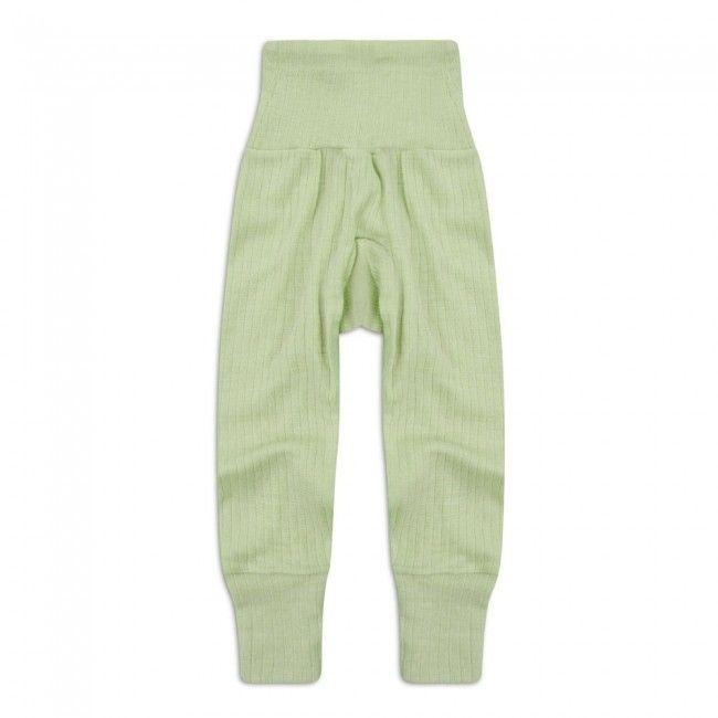 Ull/silke/bomull stillongs, grønn