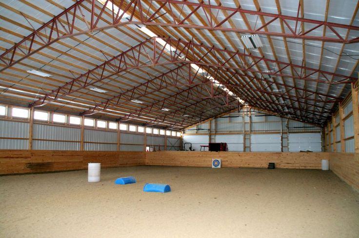 Post Frame Indoor Arena With Steel Trusses Indoor Riding