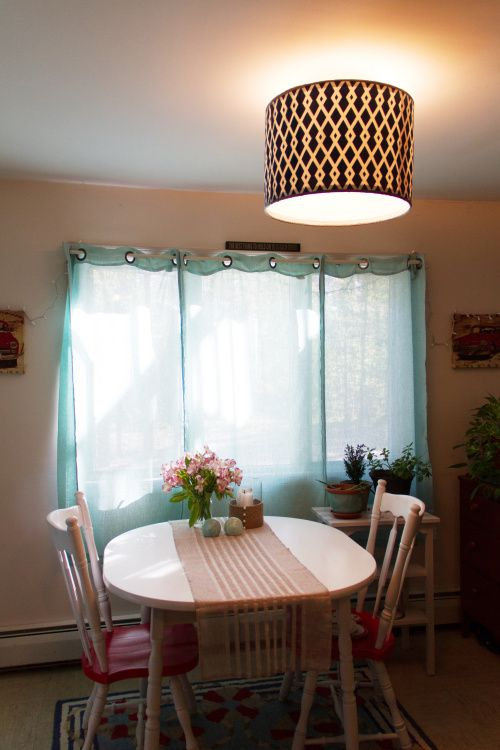 Diy Drum Shade For Flush Mount Ceiling Light Home Ideas