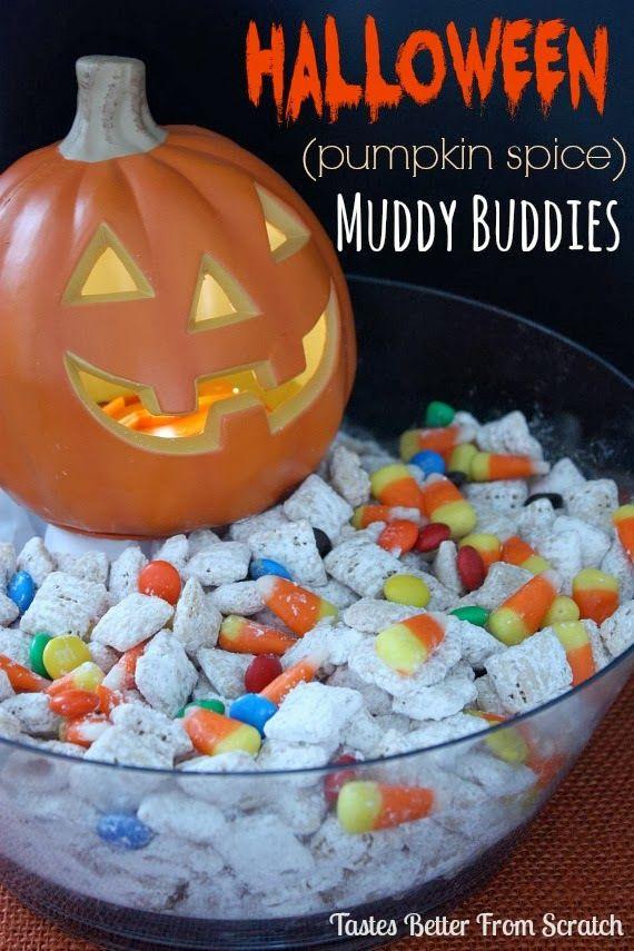 Pumpkin Spice Muddy Buddies - Holiday Cottage