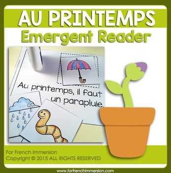 FRENCH Emergent Reader for French Immersion - Spring - AU PRINTEMPS