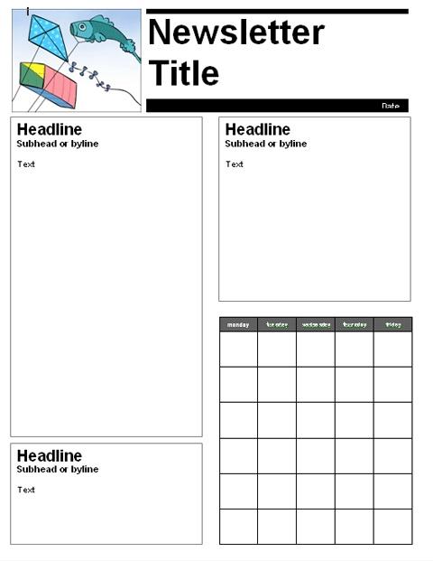 monthly newsletter template childcare pinterest newsletter