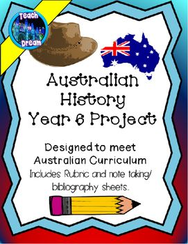 This project has students researching Australian federation, life in 20th century Australia and an Iconic figure. It has been designed to tie in with the Australian Curriculum Year 6, although it could be modified to meet Year 5 standards or for any class completing research on Australia. ** It includes key websites to help students start their research, Assessment rubric, bibliography and note taking sheets and Australian Curriculum standards **Teaching Year 6?Try Geography Project Year 6…