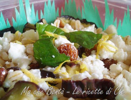 Insalata di grano, feta e melanzane grigliate. #ricetta di @wondercle