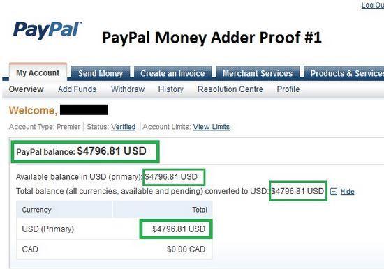 PayPal  Money Adder..