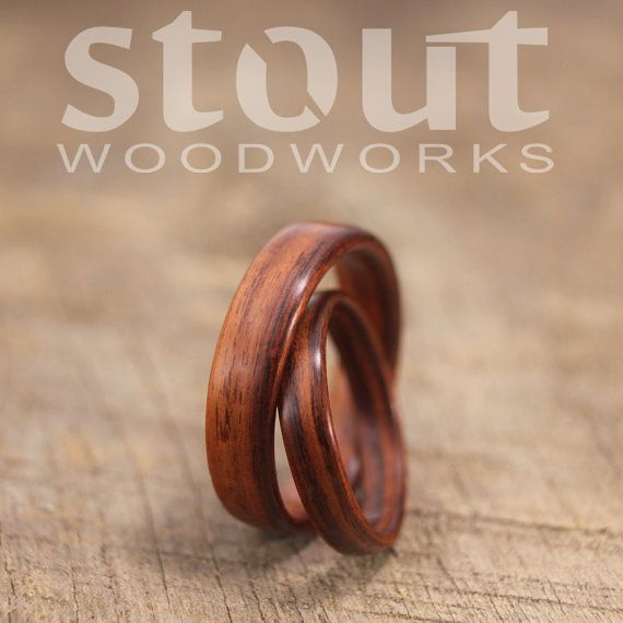 Bugholz Ring paar Kingwood Holzring von stoutwoodworks auf Etsy
