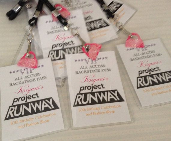 VIP Passes  Fashion Show Backstage Pass  Backstage by AmiraDesign, $35.00