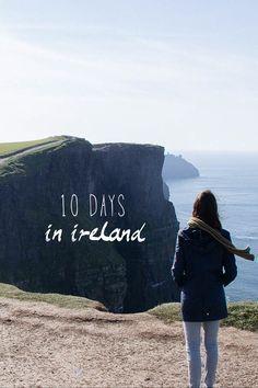 10 day Ireland road trip itinerary | Find & Map #Ireland #Itinerary #Travel