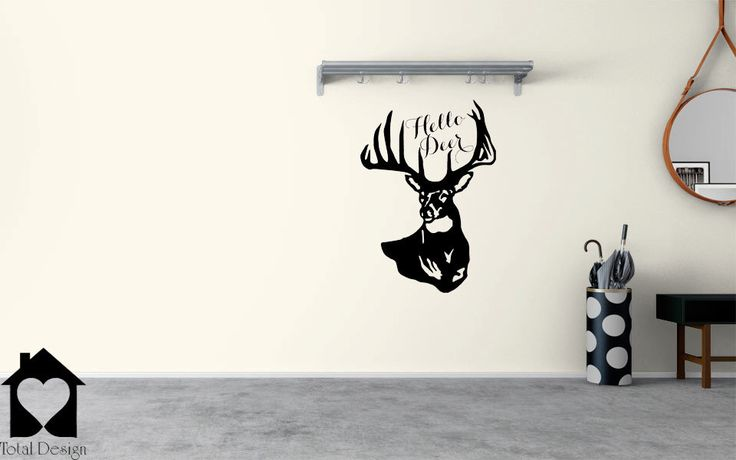 Hello Deer Pun Vinyl Decor for Wall , Vinyl Sticker Entry Room Cute Deer Decal 2027_ by TotalVinylDesign on Etsy https://www.etsy.com/listing/240128648/hello-deer-pun-vinyl-decor-for-wall